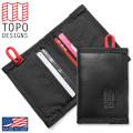 【ネコポス便対応】TOPO DESIGNS トポデザイン BI-FOLD レザーウォレット - MADE IN USA