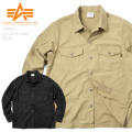 ☆15%OFFセール☆ALPHA アルファ TS5038 L/S ユーティリティシャツ SOLID