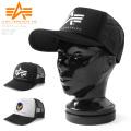 【即日出荷対応】ALPHA アルファ TZ3019 プリントロゴ メッシュキャップ 帽子