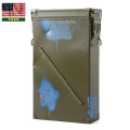 ☆20%OFFセール☆実物 米軍 81mm HE M821A2 AMMO CAN(USED・PAINTED)