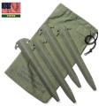 実物 新品 米軍 テントペグ・ステークバッグセット