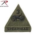 【ネコポス便対応】ROTHCO ロスコ 72106 SPEARHEAD 3RD ARMORED パッチ