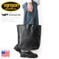 ★即日出荷対応商品★VANSON バンソン WAIPER別注 H21 レザートートバッグ BLACK SMOOTH