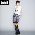 ☆まとめ割☆VARIOUS バリアス 猫柄迷彩 レディース ショートスカート