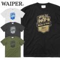 【ネコポス便対応】WAIPER.inc 1920007 S/S プリント Tシャツ WORK IS OVER 半袖