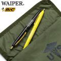 【ネコポス便対応】BIC×WAIPER.inc LOGO ボールペン 2pcs BLACK/YELLOW【クーポン対象外】