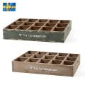 ☆ただいま15%割引中☆新品 スウェーデン軍 コレクションウッドボックス
