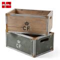 ☆ただいま15%割引中☆新品 デンマーク軍 ストレージウッドボックス Small