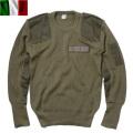 ☆まとめ割☆実物 新品 イタリア軍 コマンドセーター オリーブ ミリタリーニット