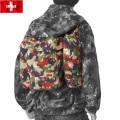 ☆驚愕の25%OFFセール中☆■実物 スイス軍 マウンテンジャケット用アルペンカモバックパック USED