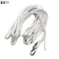 実物 新品 フランス軍 フック付きロープ