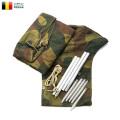 実物 USED ベルギー軍 テントシェル ポールペグセット M54 CAMO 迷彩 テントシート【Sx】