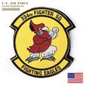 ★今ならカートで15%OFF割引★▽【ネコポス便対応】新品 米軍 334th FIGHTER SQUADRON(第334戦闘飛行隊) FIGHTING EAGLES ベルクロパッチ / ワッペン ミリタリーファッション