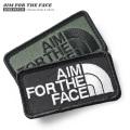 【即日出荷対応】【ネコポス便対応】AIM FOR THE FACE ベルクロワッペン / ジョークパッチ【キャンペーン対象外】