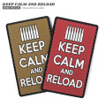 【即日出荷対応】【ネコポス便対応】VT KEEP CALM AND RELOAD ラバー ベルクロワッペン / ジョークパッチ【キャンペーン対象外】