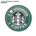 【即日出荷対応】【ネコポス便対応】VT I LOVE VOODOO&COFFEE ラバー ベルクロワッペン / ジョークパッチ【キャンペーン対象外】【T】