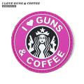 【即日出荷対応】【ネコポス便対応】VT I LOVE GUNS & COFFEE ラバー ベルクロワッペン / ジョークパッチ【キャンペーン対象外】【T】