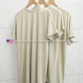実物 新品 米軍 MOISTURE WICKING Tシャツ SAND 3PACS MADE IN USA【キャンペーン対象外】【I】 ミリタリーファッション 軍服