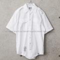 実物 新品 デッドストック 米軍 WHITE 521 ショートスリーブシャツ【キャンペーン対象外】【I】ミリタリーファッション 軍服