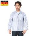 実物 ドイツ軍 パジャマシャツ ストライプ USED