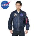☆まとめ割☆NASA公式 OFFICIAL ナサ オフィシャル 100th MISSION MA-1フライトジャケット NAVY BLUE ミリタリージャケット 宇宙