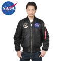 ☆20%割引中☆NASA公式 OFFICIAL ナサ オフィシャル APOLLO MA-1 フライトジャケット BLACK ミリタリージャケット 宇宙