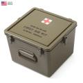 実物 新品 米軍 プラスチック メディカルボックス (CASE,MEDICAL INSTRUMENT AND SUPPLY SET PLASTIC,SIZE B)  米軍放出品(キャンペーン対象外)
