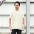 実物 フランス軍 リネン ベスト ナチュラル USED ミリタリーファッション 軍服【Sx】
