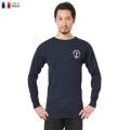 【即日出荷対応】実物 新品 フランス海軍 FIRE RETARDANT L/S クルーネック Tシャツ