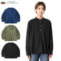 ☆21%OFF割引中☆新品 ブルガリア軍 1950年代復刻 グランパシャツ 後染め レディース ミリタリーファッション