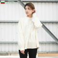 ☆21%OFF割引中☆新品 ブルガリア軍 1950年代復刻 グランパシャツ オフホワイト レディース ミリタリーファッション