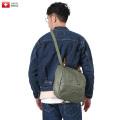 実物 USED スイス軍 PVC レザー ショルダーバッグ ミリタリーファッション 軍放出品 軍服【Sx】