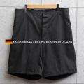実物 新品 東ドイツ ワークショートパンツ ブラック【キャンペーン対象外】 軍服 軍パン ミリタリーファッション