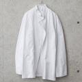 ★今ならカートで15%OFF割引★LEIBER社製 ホワイト ボタンレス シェフジャケット 長袖