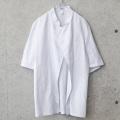 ★今ならカートで15%OFF割引★LEIBER社製 ホワイト ボタンレス シェフジャケット 半袖