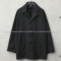 ▽実物 新品 デッドストック イタリア軍 ホスピタルジャケット BLACK染め【キャンペーン対象外】 ミリタリーファッション 軍服
