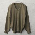 実物 USED イタリア軍 Vネックセーター【キャンペーン対象外】 ミリタリーファッション 軍服