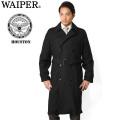 WAIPER別注 HOUSTON ヒューストン U.S.NAVY ブラックトレンチコート【16WP12】