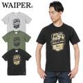 ☆まとめ割☆★即日出荷対応商品★【ネコポス便対応】WAIPER.inc 1819003 WORK IS OVER サマーTシャツ