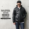 【即日出荷対応】WAIPER.inc シープスキン HOODED レザージャケット(8501064)【Sx】 レザーパーカ 革ジャン
