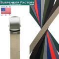 ★今ならカートで18%OFF割引★【即日出荷対応】SUSPENDER FACTORY サスペンダーファクトリー YF110 ナイロンベルト シルバーバックル MADE IN USA