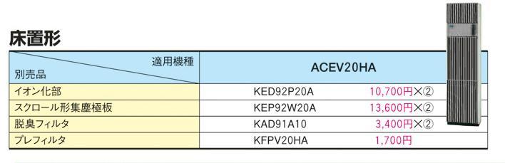 KAD91A10(ダイキンACEV20HA用脱臭フィルター)