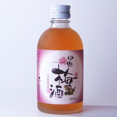 紀州南高梅使用中野梅酒300ml中野BC【和歌山県産】「中野梅酒」は、紀州和歌山産南高梅を使用したシンプルな梅酒です。