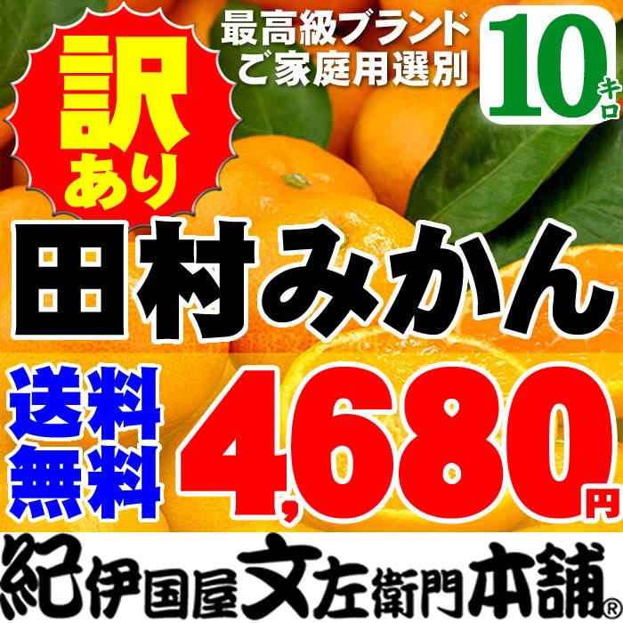 訳あり田村みかん■10kg■ Lサイズ ■[有田みかん]ブランド果実わけありご家庭用果実