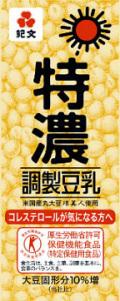 紀文 特濃調整豆乳 200ml x18本 (1箱) [常温保存可能]