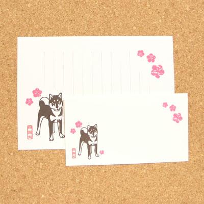 四国犬と撫子レターセット