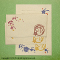 日本スピッツと桜レターセット