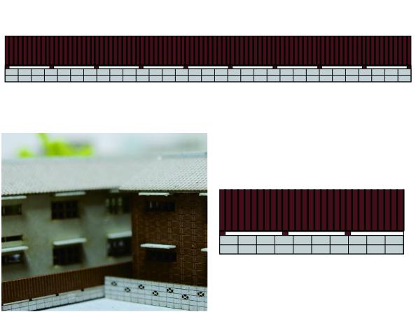 1/200建築模型ブロック塀