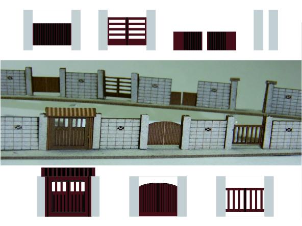 1/200建築模型門