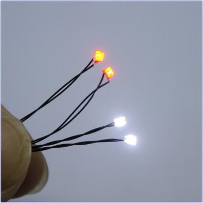 模型用チップLED0805 白色2赤色2 ヘッドライトブレーキライト用【メール便可】